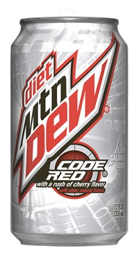 Diet Code Red is a regionally-limited diet version of the popular Cherry (Orange Juice flavored) Mt Dew Code Red. It has become almost non-existent in the northeast recently. .